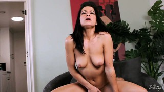 Magnificent doggy-style banging with perverted and bosomy brunette
