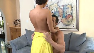Billy Glide Is Getting His Huge Schlong Sucked Hungrily By His Wife's Hot Friend Dylan Ryder