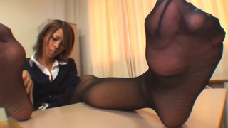 Fétichisme Collants Noirs Excitation
