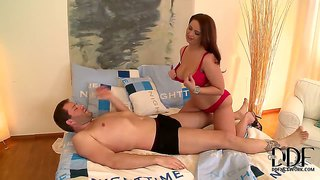 Busty sirale gives one hell of a tit massage