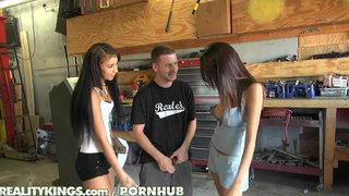 Reality Kings - Carshop Threesome With Hot Teen