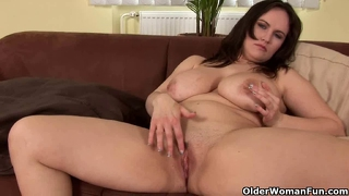 Mature Mom With Big Tits Finger Fucks Her Lickable Pussy