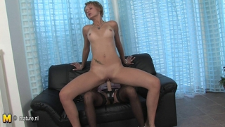 Milf And A Teen Playing And Fucking