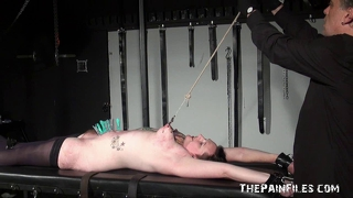 Bondage Rack Fetish And Amateur Bdsm Of Tattooed Precious