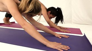 Chastity Lynn And Vicki Chase Sexy Yoga Scene