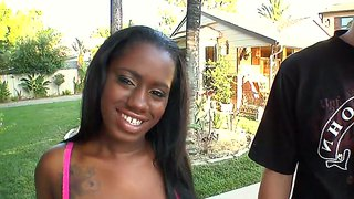 Ebony Girl Black Swan Screwed In Mouth And Cunt
