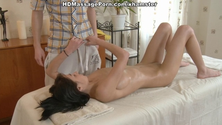 Dark Haired Sexy Girl Moans From Intense Sex Massage