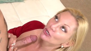 Hot Blonde Stepmother Seduces Her Stepson By Blowjob And Rough Doggystyle Pose