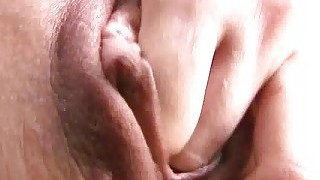 Sexy Teen Brunette Fucks Her Ass With A Dildo