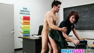 Schoolgirl Chase Ryder Is Very Horny