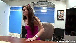 Chubby Amateur Angel Cakes At A Casting