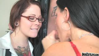 Nullhot Mom Shows Her Sexy Daughter The Art Of Sucking Hard Cock
