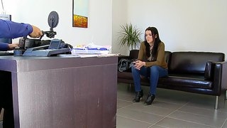 Petite Amateur Claudia Bomb At Her First Interview