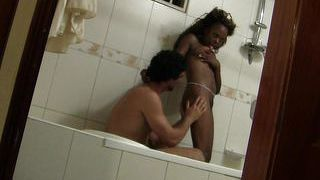 Hot Black Teen Fucked In The Tub By Horny Male