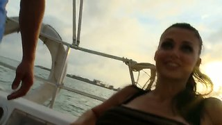 Tall And Busty Aletta Ocean Shaking A Yacht By Hot Fucking And Sucking